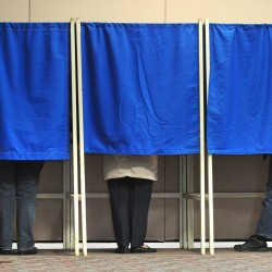 Bangor residents cast their votes early in October 2008.