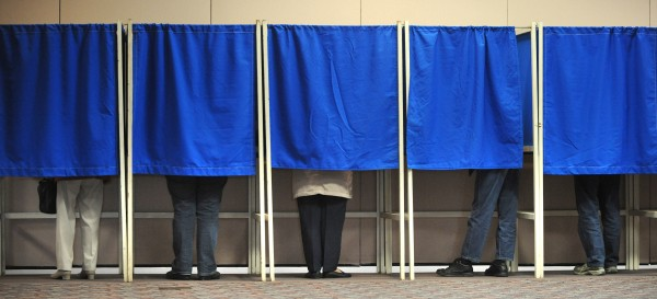 Bangor residents cast their votes in October 2008.