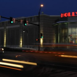 Cars whiz by Hollywood Slots in Bangor at night in this 2009 file photo.