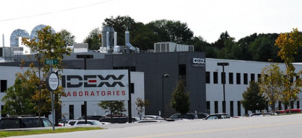 The IDEXX world headquarters in Westbrook. The vet biotech company employs roughly 1,700 in Maine.