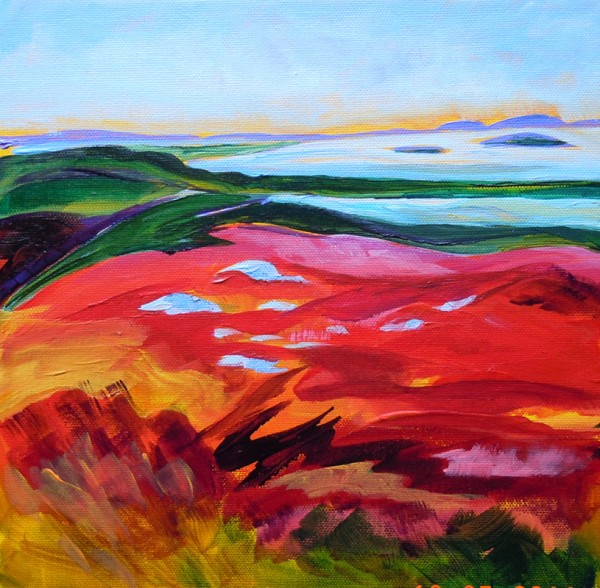 """Looking East"" by Jean Deighan will be shown in ""Ten,"" a one-night exhibit from 5 to 8 p.m. on Thursday, Oct. 27, at 73 Central St. in Bangor."