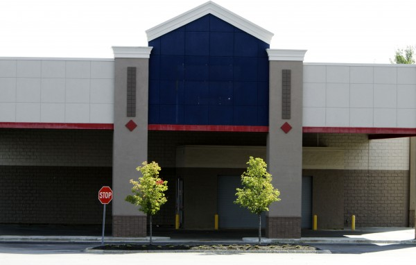 The Lowe's store in Biddeford, which was closed last week, has already had its sign removed.
