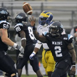 University of Maine seniors enjoy one last football victory at Alfond Stadium