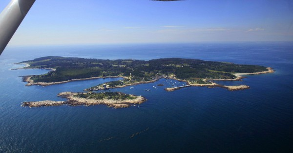 An aerial view of Matinicus Island.