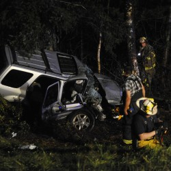 Driver escapes serious injury in collision with moose