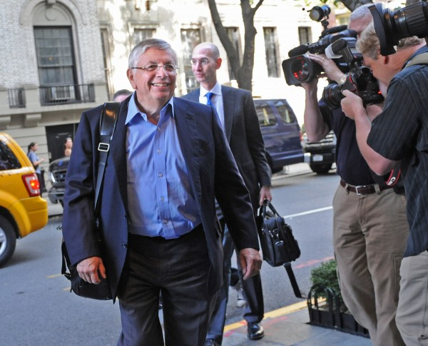 NBA Commissioner David Stern arrives for labor talks, Monday, Oct. 10, 2011, in New York.