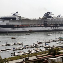 Three cruise ships arriving in Portland