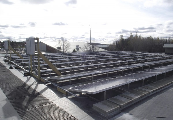 The $2.3 million renovation to Pullen Hall at the University of Maine at Presque Isle included the installation of 90 solar panels on the roof of the 42-year-old building.
