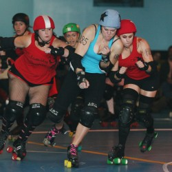 Hell on eight wheels: Roller derby bout combines endurance, balance and mayhem