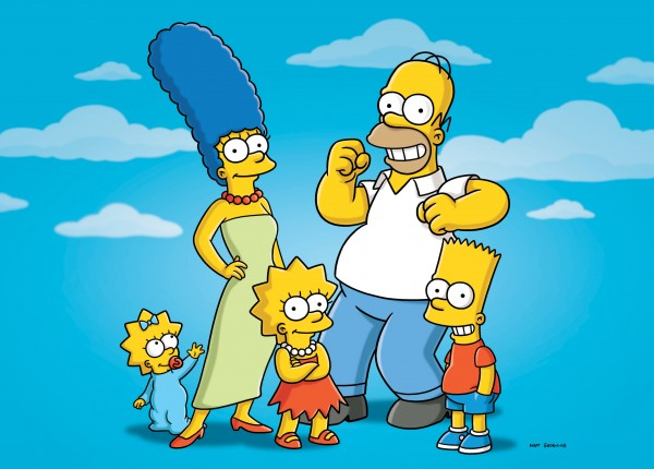 In this undated publicity photo released by Fox, characters from the animated series, &quotThe Simpsons,&quot from left, Maggie, Marge, Lisa, Homer and Bart, are shown. The show's producer said Tuesday, Oct. 4, 2011, that the show can't continue under its current financial model. That follows a report that big pay cuts are being sought for the actors who provide voices for Homer, Marge and Bart Simpson and the other characters.