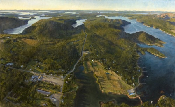 The artwork of Alexandra Tyng, including this one titled &quotBack to the Lakes,&quot is now on display in Maine's Capitol Complex as part of the Maine Arts Commission's Arts in the Capitol program.