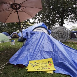 Chemical 'bomb' tossed into Occupy Maine encampment in Portland