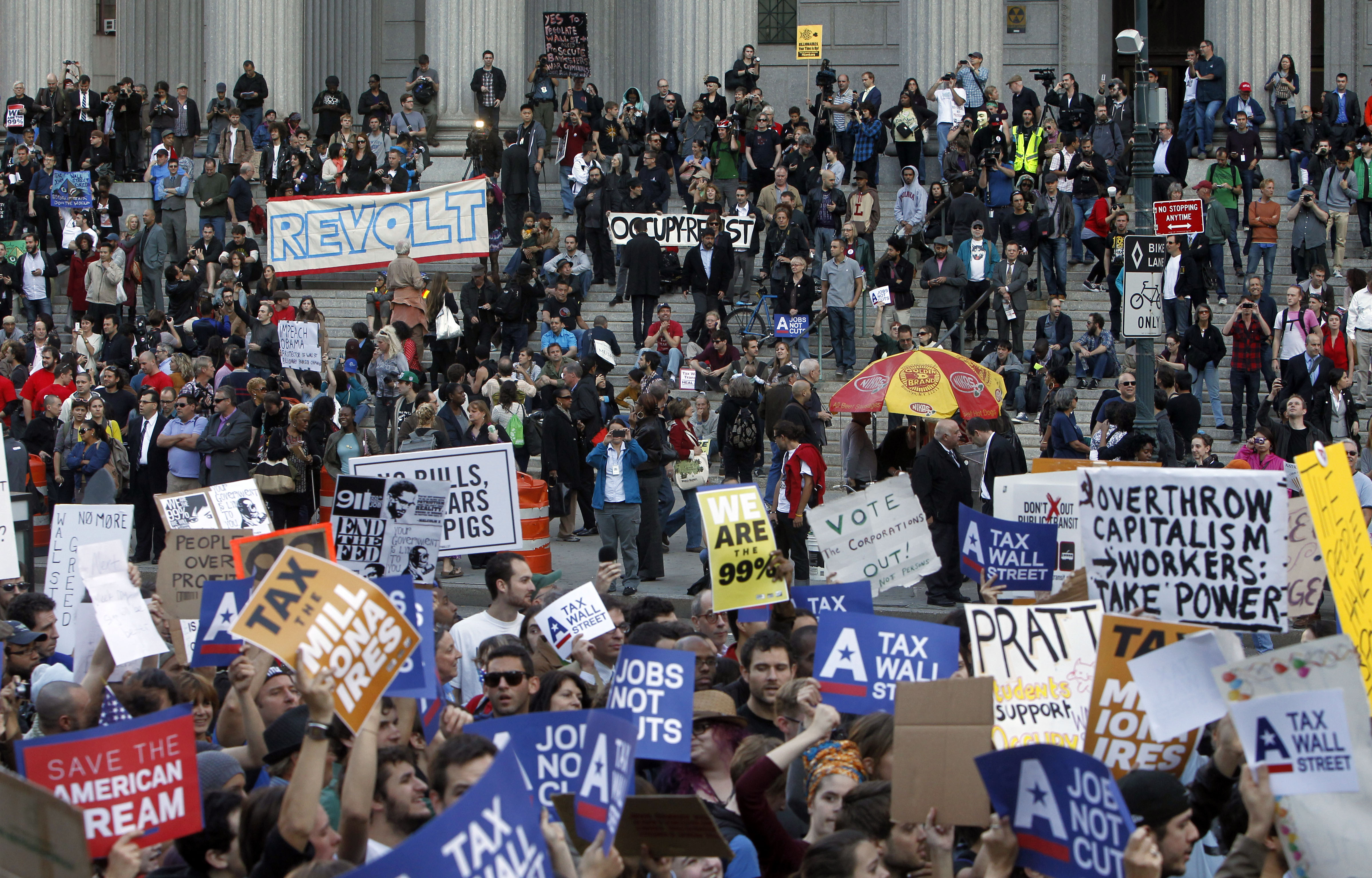 Wall Street protesters: We're in for the long haul