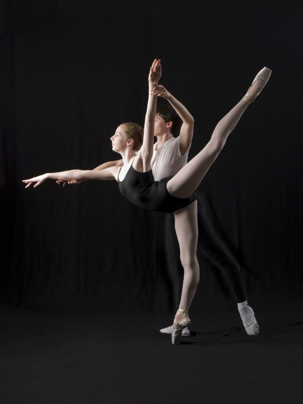 Bangor Ballet dancers Erin Norris of Glenburn and Tommy McCarthy of Bangor.