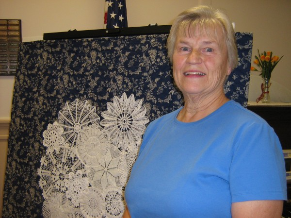 Carolee Whitee of Whitefield talked about her quilting at a recent meeting of the Orono Quilters in Orono.