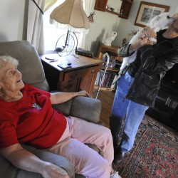 Lives of shut-ins, elderly enriched by companionship, kind acts
