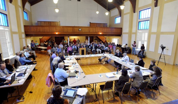 The Dorothea Dix Work Group listened to input from the public at the Dorothea Dix Psychiatric Center in Bangor Friday morning.