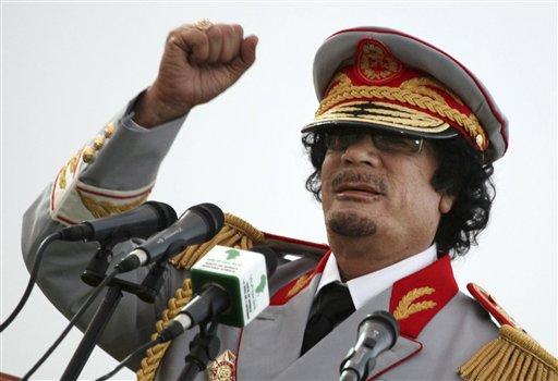 Libyan leader Moammar Gadhafi.