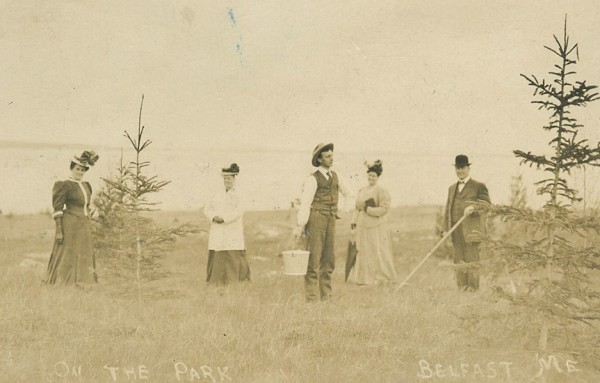 Tree planting in the newly created City Park in Belfast in the early 1900s was carried out by volunteers under the auspices of the Belfast Village Improvement Society. The society will be the subject of a talk at a meeting of the Belfast Historical Society on Oct. 18 at St. Margaret's Episcopal Church Parish House, 95 Court St.