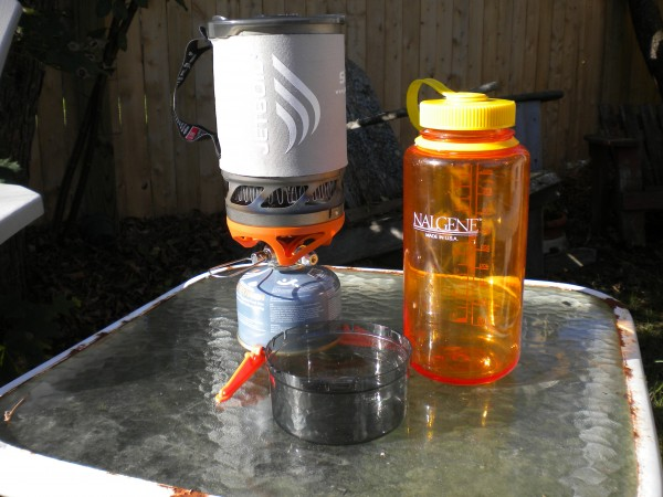 Jetboil's new Sol Ti model (titanium cooking cup); 11.9 ounces; $149.95