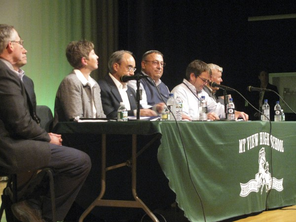 Gov. Paul LePage was flanked Thursday night by his commissioners during a town hall event at Mount View High School in Thorndike, which capped Waldo County's turn at his &quotCapitol for a Day&quot initiative. About 150 people attended, asking questions on topics such as job creation, education, teacher pensions and tax reform.