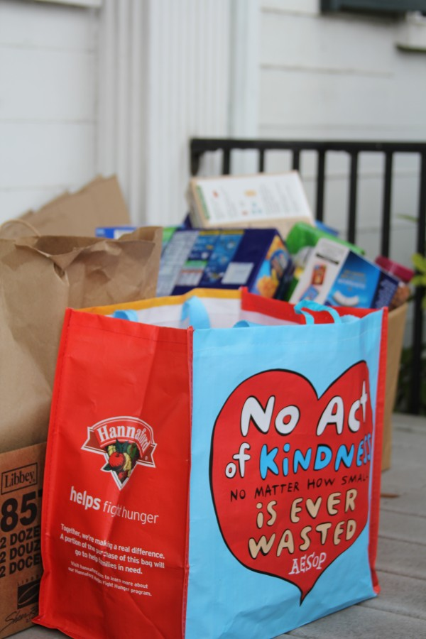 Gov. Paul LePage held a food drive on Saturday, Oct. 22, at the Blaine House in Augusta.