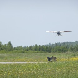 A Civil Air Patrol plane out of Lewiston/Auburn Airport leaves the Machias airport recently.