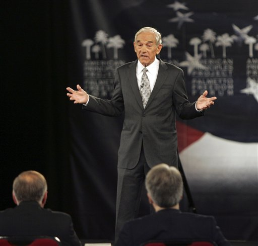 Rep. Ron Paul, R-Texas, speaks at the American Principles Project Palmetto Freedom Forum in Columbia, S.C.  Because Paul is having a big impact on the presidential race some Republican operatives are convinced that he will play spoiler in important states.