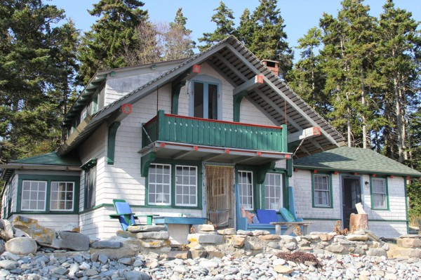 Christmas Tree House is 17 by 18 feet and faces the open ocean in Port Clyde. It's a Swiss Chalet built by Russell Porter around 1909.