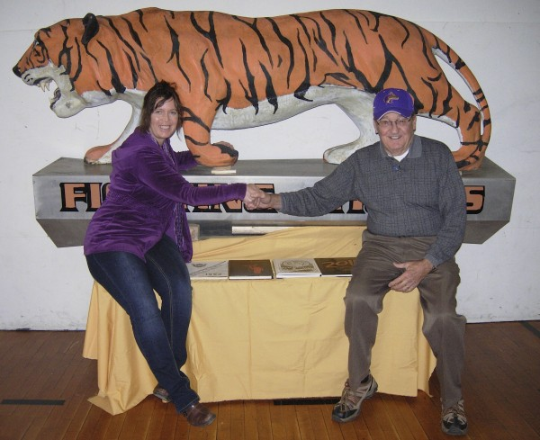 Lincoln Street Center Director Angela Anderson Pomerleau and Ben Perry, curator and historian of the Alumni and Heritage Room at the center, want Rockland area residents to know that the Rockland tiger that once adorned Rockland District High School is alive and well and living at the center.