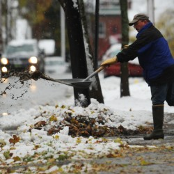 Maine hit with snow in wake of ice storm