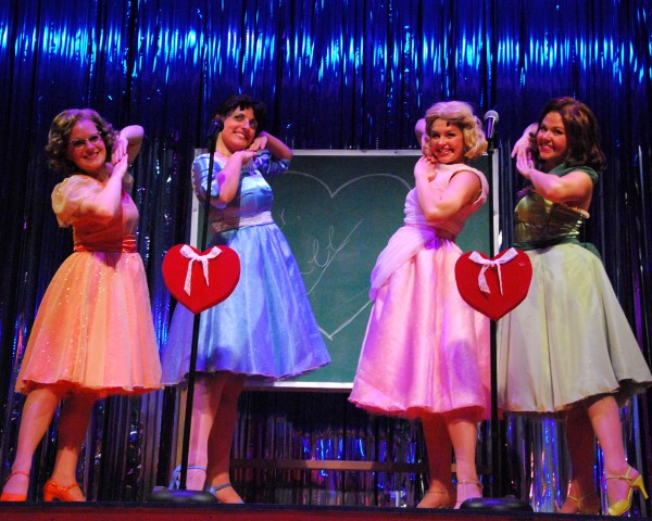 "Christie Robinson (from left), Brianne Beck, Sara Dobrinich and Melissa Hammans are the ""Marvelous Wonderettes."""