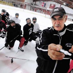 John Bapst hockey coach Fadrigon recuperating from shoulder injury