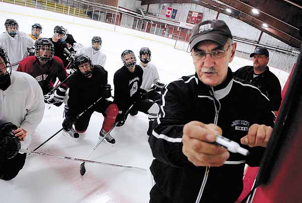 Gene Fadrigon, who guided the John Bapst High School hockey team to a 16-3 record in 2008-09 before stepping down as the head coach, has taken the reins again this year and will have his grandson Tyler Fadrigon as an assistant coach.