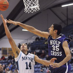 Holy Cross men's basketball team holds off Maine 57-54