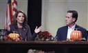 Republican presidential candidates Rep. Michele Bachmann, R-Minn., and former Pennsylvania Sen. Rick Santorum campaign in Des Moines, Iowa, on Nov. 19, 2011.