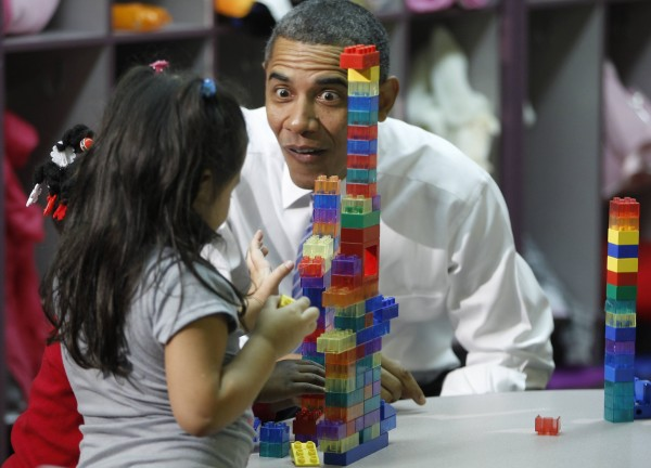 President Barack Obama visits a classroom at Yeadon Regional Head Start Center in Yeadon, Pa., on Tuesday, Nov. 8, 2011.