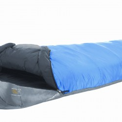 Mountain Hardwear's UltraLamina 15 sleeping bag can keep you protected in temperatures down to 19 degrees Fahrenheit, with a footbox to allow your feet to rest naturally.
