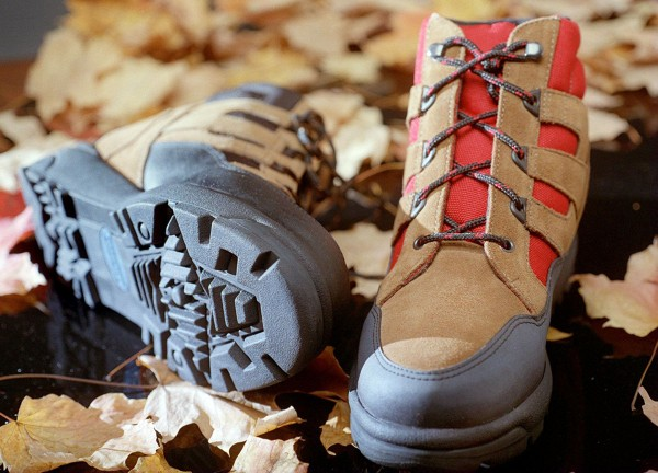 A good shoe for winter hiking trips will have a tough sole and waterproof outer layer.