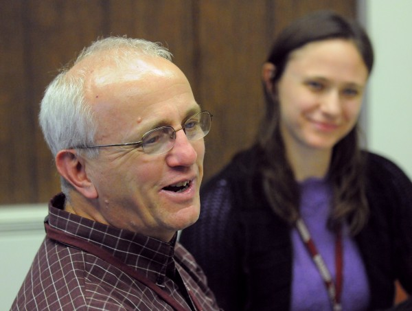 Bangor High School chemistry teachers Cary James and Sasha Alcott.