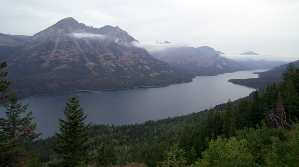 A view from Goat Haunt Lookout inside Glacier National Park in Montana looking over Waterton Lake into Canada (background). No one can remember an illegal immigrant ever coming across the border into the scenic and rugged Glacier National Park. But that isn't stopping some in Congress from proposing to give border agents control over the popular tourist attraction in Montana.