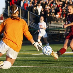 Overtime goal lifts Scarborough past Hampden for Class A boys soccer crown