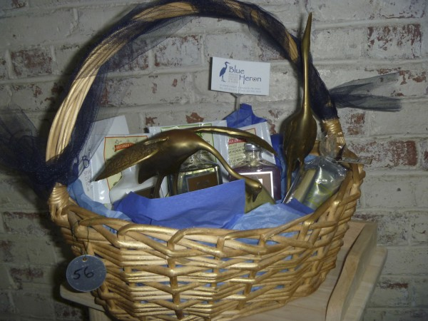 This elegant basket, sponsored by the Blue Heron shop in Bangor, will be among nearly 200 gift baskets up for bid in the Hammond Street Senior Center It's a Basket Case silent auction Dec. 5-9, at the center.