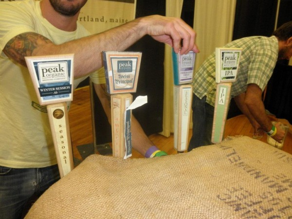 Peak Organic makes a delicious Pomegranate Wheat beer.