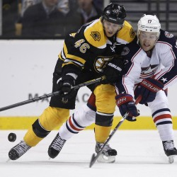 Bruins beat Blue Jackets in SO to end 4-game slide