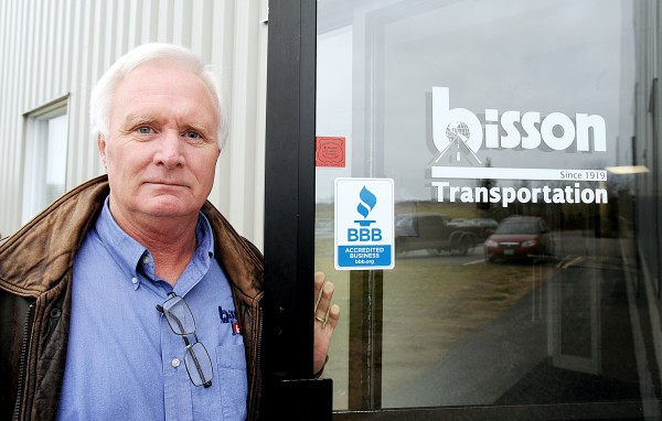 Bob Cooper, president of Bisson Transportation Inc., said the company's long-haul freight operation will close, resulting in about 61 layoffs, 38 truck drivers and 23 mechanics, office workers and others, at Bisson's service center garage in Auburn.