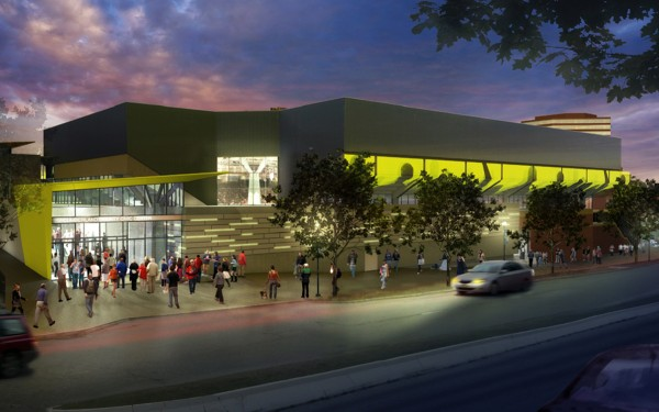 An artist's rendering of proposed upgrades to Cumberland County Civic Center.