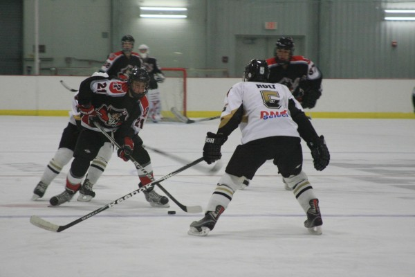 Andrew Holt plays defense for the Maine Moose, which recently captured the state title in the Under-18 Midget division.
