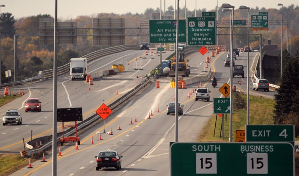 The construction on the I-395 bridge over the Penobscot River is drawing to a close.