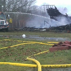 Fire destroys home, barn in Eastbrook